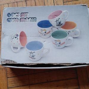 Vintage Snoopy tea cups